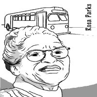 free printable rosa parks coloring sheet is one of many black history month famous people - Coloring Page Rosa Parks
