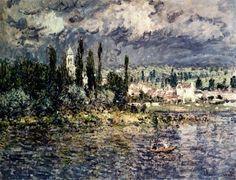 Landscape With Thunderstorm - Claude Monet
