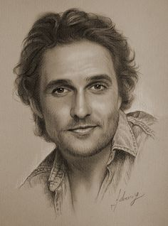 Celebrity Pencil Portraits - Matthew McConaughey