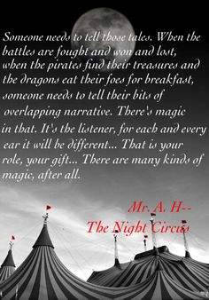 Favorite quote from 'The Night Circus'. Amazing book  #good read  #read-alouds