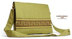 Design Messenger Bag  Pattern 02 Handmade / Cotton / by Sandynbear, $39.90