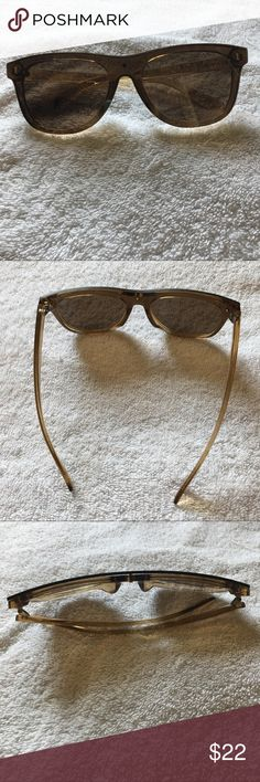 Lucky Brand Brown Robertson Sunglasses Lucky Brand Brown Robertson Sunglasses. Wore them once, no case, it has a small scratch please look at picture. feel free to ask any questions :) Lucky Brand Accessories Sunglasses