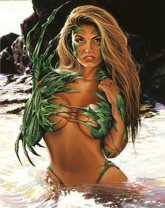 Dave Nestler, pinup art, pinup girls, witchblade, Dazza Del Rio   davenestler.com