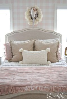 Dear Lillie: A Little Peek at Lillie's New Room. Home Decor Bedroom, Kids Bedroom, Dear Lillie, New Beds, New Room, Colorful Decor, Have Time, Bassinet, Bed Pillows