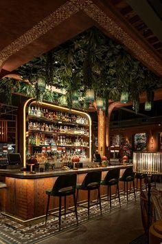 Deco Restaurant, Luxury Restaurant, Modern Restaurant, Bar Interior Design, Restaurant Interior Design, Cafe Design, Lounge Design, Bar Lounge, Billard Bar