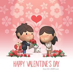 Happy Valentine's Day! #love #cute https://www.facebook.com/hjstory.fb/