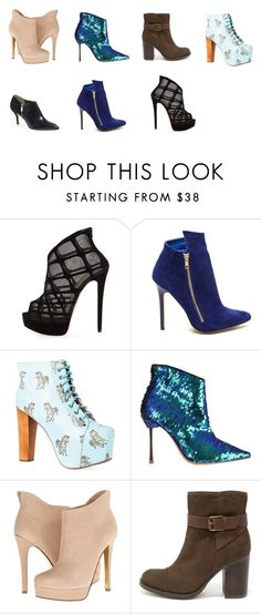 """""""Boots"""" by giovana-stecanella on Polyvore featuring moda, Christian Louboutin, Jeffrey Campbell, Sophia Webster, Chinese Laundry, MIA e MICHAEL Michael Kors"""