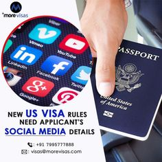 Approximately all aspirants for US visas will have to present their social media information under recently adopted rules. The State Department regulations state individuals will have to provide social media names and 05 years' worth of phone numbers and email addresses.  #USImmigration #MigratetoUS #USWorkPermitVisa #SkilledWorkVisa #Immigration #MoreVisas Work Visa, New Uses, Numbers, Social Media, Usa, Detail, Phone, Telephone, Phones