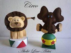 bonecos de EVA para festas circo