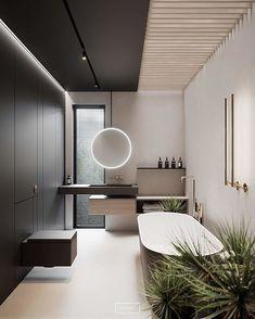 Modern bathroom design ideas plus tips for decor colours and styles 2 Contemporary Bathroom Designs, Contemporary Interior Design, Bathroom Interior Design, Modern Toilet Design, Washroom Design, Interior Design Themes, Contemporary Style, Bad Inspiration, Bathroom Inspiration
