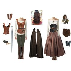 A fashion look from August 2015 featuring Yves Saint Laurent, 7 For All Mankind leggings и John Fluevog boots. Browse and shop related looks. Renaissance Costume, Medieval Costume, Medieval Dress, Medieval Clothing, Women's Clothing, Medieval Fashion, Clothing Stores, Costume Roi, Moda Medieval