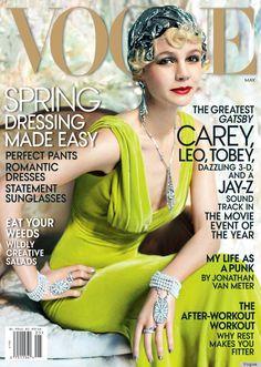 Carey Mulligan Vogue May 2013 cover, shot by Mario Testino. Wear Oscar de la Renta dress