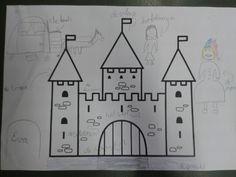 Het Slot. De kinderen tekenen en schrijven de nieuwe woorden erbij.