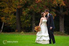 the kiss ♥  #rickbouthiettephotography Waukewan Golf Club | Center Harbor, New Hampshire #rusticwedding #fallnhwedding #fairytalewedding