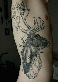 Alce, costela, tattoo, men