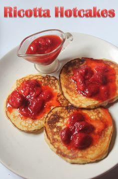 YUMMY TUMMY: Nigella Lawson's Ricotta Hotcakes Recipe - Ricotta Pancakes with Strawberry Sauce