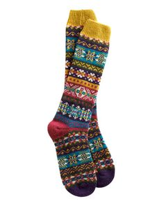 Joules Womens Fairisle Sock, Fairisle. Fair Isle style for your feet! If you can't get home and put your feet in front of a warm open fire, pull these socks on. The feeling will be just the same. #joules #christmas #wishlist