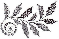 Christmas Holly Zentangle/Doodle