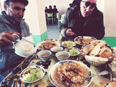Uzbekistan - Typical food and dring during our break