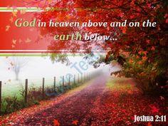 joshua 2 11 god in heaven above powerpoint church sermon Slide01  http://www.slideteam.net/