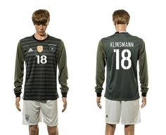 Germany #18 Klinsmann Away Long Sleeves Soccer Country Jersey Up to 92% off Easton Baseball Jerseys