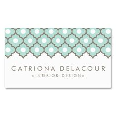 Elegant Blue Moroccan Pattern Business Card