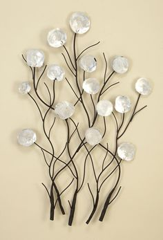 Wall Art Design Ideas, White Metal Floral Wall Art Classic Simple Fantastic Design Ideas Unique Decoration Foremost ~ metal floral wall art home accents