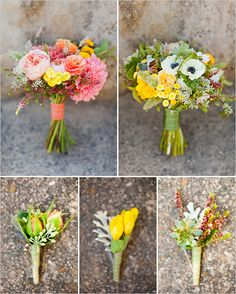 Love all of these bouquets and buttoners