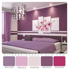 Beau Love The Color Scheme, But We Cant Paint The Walls. Would Just Like To.  Pretty BedroomPurple ...