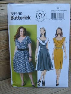 Plus Size Spring Summer Fall Dress Pattern Butterick by seamstoyou, $9.00 - Super cute!!!