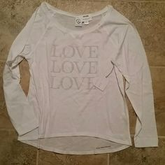 Aeropostale  beautiful white top sz Lrg NWT! Gorgeous oversized cotton top still in plastic was shipped in. Taken out once for pic. No holds or trades. Aeropostale Tops