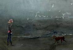 """Saatchi Art Artist Liana Nakashidze; Painting, """"Seagulls sold"""" #art"""