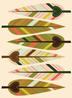 Feather illustration - textile design and surface pattern inspiration