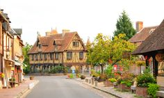 The most beautiful villages of France - 1 photo per post This thread will contain photos of villages included in the Les Plus Beaux Villages de France. Alsace France, France 1, Region Normandie, Most Beautiful, Beautiful Places, Calvados, Beaux Villages, Coast, Cabin