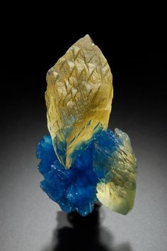Calcite & Cavansite ❦ CRYSTALS ❦ semi precious stones ❦ Kristall ❦ Minerals ❦ Cristales ❦                                                                                                                                                      Más