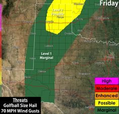 Severe thunderstorms will be possible across the Texas Panhandle, South Plains (West Texas), and the Permian Basin this afternoon and evening. An enhanced severe weather threat, including the possibility of a few tornadoes, will return to Northwest Texas on Saturday, and by Saturday Night and Sunday we'll see flooding rains across parts of Texas. A very busy forecast shaping up so head over to Friday's edition of the Texas Weather Roundup for the latest!  http://texasstormc
