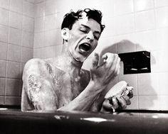 Frank Sinatra scrubbing up in the tub and singing a tune. Splish splash he was taking a bath