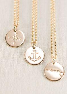Heleuma necklace - gold anchor necklace