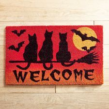 Pier 1 Imports Scary Cat Welcome Doormat Halloween Scene, Cute Halloween Costumes, Halloween Cat, Holidays Halloween, Halloween Ideas, Halloween School Treats, Halloween Party Supplies, Halloween Party Decor, Cats And Cucumbers