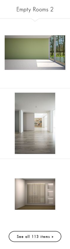 """""""Empty Rooms 2"""" by mysfytdesigns ❤ liked on Polyvore featuring rooms, room, empty rooms, backgrounds, home, interior, home decor, doors, ambientes and empty room"""