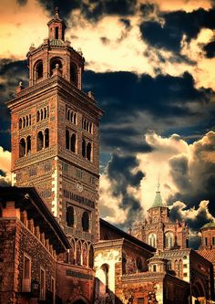 The Cathedral of Teruel (1171- 1257) is a church in Teruel, Aragon, Spain. Entitled to St. Mary, it is a notable example of Mudéjar architecture. Together with other churches in the town and in the province of Zaragoza, is listed in the UNESCO Heritage site Mudéjar Architecture of Aragon