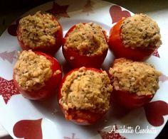 Pomodori ripieni con bulgur, quinoa e tonno