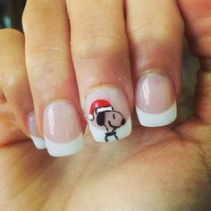 Took about all the energy I could muster to get my nails done! Who knew sitting could be so exhausting? This surgery is kicking my butt! But it was so worth it for this cute Snoopy!  #charliebrownchristmas