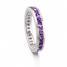 Silver Amethyst Eternity Ring Moonlight #amethyst #February #birthstone