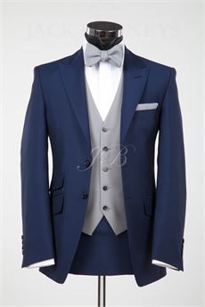 Mens Wedding Suits by Jack Bunneys - Blue York with bow tie – from Jack Bunneys