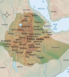 Various maps of Africa   Use with My Father s World Exploring     This is a map of Ethiopia  One of the largest cities  Addis Ababa  is know  for It s traditional Ethiopian meals