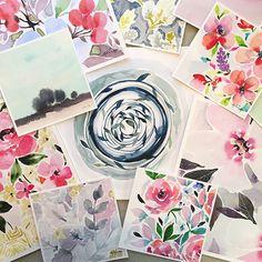 http://www.stephanieryan.com Watercolor flowers
