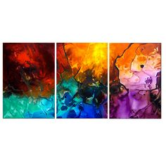 Paint Implosion Magma Abstract Painting - ArtWall and Co