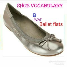 Shoe Vocabulary continued so sorry couldn't post this yesterday.  Today we'll be looking at letter 'B'. B for 'Ballet flats'. Appearance: Ballet flats also called dolly shoes have tiny thin heel or no heel at all and most times have ribbon like binding or decorative string or tassels.They can be made from suede leather fabric etc. Presently suede ballet flats are trending in Nigeria.  Styling tip:  Can be worn with a tucked in shirt and palazzo pants pant camisole and blazers  tucked in…