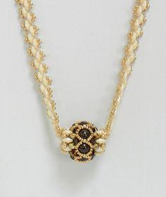 "Handmade Swarovski Beaded Superduo necklace, Beaded Swarovski necklace, Beaded necklace, Superduo jewelry - ""Beaded Barrel necklace"""